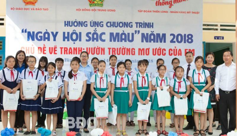 """500 học sinh tham gia chương trình """"Ngày hội sắc màu"""" - baobinhdinh.com.vn"""